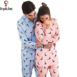 5725f7526c Couple Pajamas Set 100% Cotton Pajamas Print Pajamas Spring Autumn Men And Women  Long Sleeve Sleepwear Lover Night Suits SY615