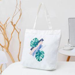 $enCountryForm.capitalKeyWord NZ - Miyahouse 2018 Casual Marble Print Top-handle Bag Lady Canvas Leaf Pattern Shouder BagsFor Young Women High Capacity Handbags