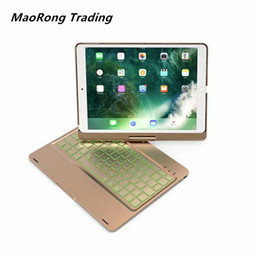 Discount backlight keyboard for tablet - MAORONG TRADING New Bluetooth Keyboard 360 Degree Rotating Metal Colorful Backlight Wireless Keyboard for ipad pro10.5 T