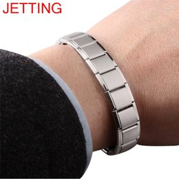 health magnets bracelets Australia - JETTING Stainless Steel Watchband Men Charm Bracelet Punk Jewelry Magnet Germanium Health Titanium Steel Bracelet & Bangles