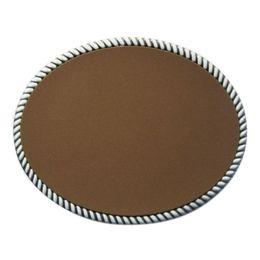 $enCountryForm.capitalKeyWord NZ - New Leather Covered Oval Blank Belt Buckle