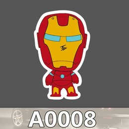 Anime wAllpApers online shopping - A0008 Marvel Iron Man Classic Anime Stickers For Laptop Car Styling Phone Luggage Bike Motorcycle Mixed Cartoon PVC Waterproof Sticker