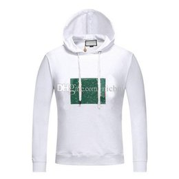 60742261a autumn fashion designer Brand tag men red green stripeds gold stamp letter  classic style cotton hoodies pullover cartoon sweatshirt