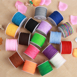 $enCountryForm.capitalKeyWord NZ - 140Yards 0.6mm Assorted colors Chinese Knot String Knit Ropes Jade Line Wire threads Rattail beading cords DIY Jewelry Fittings Bracelet