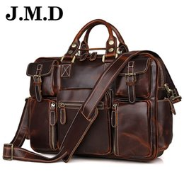 Discount jmd leather bags - JMD 100% Genuine Leather Men's Bag Leather Handbags Messenger Bag Male Briefcase Casual Totes Mens Travel For Lapto
