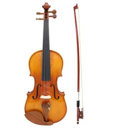 ebony flame 2018 - Full Size 4 4 Natural Acoustic Solid Wood Spruce Flame Maple Veneer Violin Fiddle for Beginner Student Performer cheap e