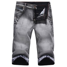 Chinese  2018 Summer Fashion Male Jeans Shorts cotton calf length pants Shorts Jeans For Men Casual Denim Patchwork Thin stretch manufacturers