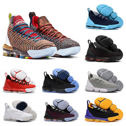 competitive price 75d81 87ded Lebron James 16 Basketball shoes 2018 Rainbow CNY 16 Negro 1 THRU 5 hombres  Zapatos de baloncesto 16s Moda Negro oro rojo mens zapatillas deportivas ...