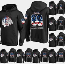 blackhawks flag 2019 - Mens Chicago Blackhawks USA Flag Hoodie 12 Alex DeBrincat 15 Artem Anisimov 84 Alexandre Fortin Hockey Sweatershirt Jers