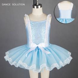 $enCountryForm.capitalKeyWord NZ - Pale Blue Sequin Spandex Bodice Ballet Tutu Girl Stage Performance Ballet Costumes Girl Jazz tap Dance Tutu Dancewear