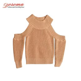 Off Boy Canada - Dosoma Sweater for Girls Autumn & Winter Round Neck for Girls Off Shoulder Jumpers Long Sleeves Baby Girl Pullover Clothes