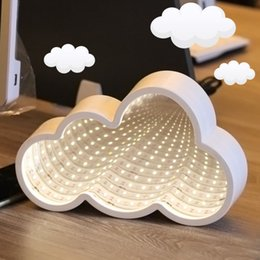 Neon Light Switch Australia - Ins decorative lights girl heart just visiting clouds modeling lights indoor decoration neon nightlight