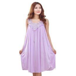 5f4db6ad9a6dd Abiti donna incinta online-abito da notte lungo camicia da notte di seta  per le