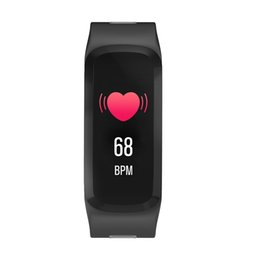thermometer smart watch UK - F4 Smart Bracelet Watch Band Color Screen fitness tracker Blood Pressure Heart Rate Monitor Thermometer Pedometer for Android IOS DHL