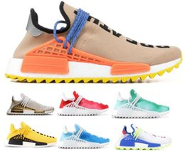 2018 Air Human Race Running Shoes Pharrell Williams PW Hu Creme Core Black Nerd Passion Holi Nobel Youth Trainers Men Women Sports Sneaker clearance real IYpkptraY