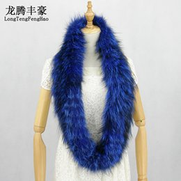 Knitted Fox Scarf NZ - 140x14cm Women's real fox fur scarf winter warm genuine fox fur knitted knit scarves wraps band new Rings winter scarf