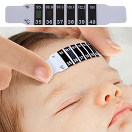 Лоб головы полоса термометр лихорадка тела ребенка ребенка уход за ребенком проверить тест контроль температуры Безопасный нетоксичный бытовой термометр новый на Распродаже