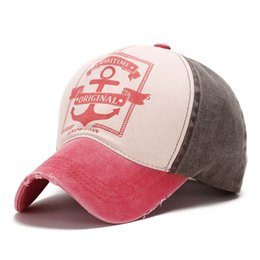 Anchor cAp online shopping - New Fashion Do Old Sunshade Hat Spring and Summer Ms Male Personality Pirate Ships Anchor Prevented Bask letter outdoor Baseball Cap