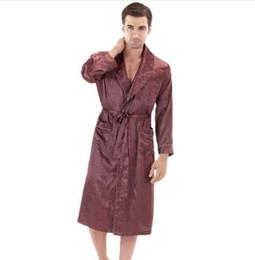 741459a01f Langarm Satin Morgenmantel Mens Bademantel Silk Robe Satin Bademantel Noble  Herren Nachtwäsche Hause Kleidung Indoor Kleidung