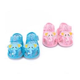 $enCountryForm.capitalKeyWord Australia - Summer Cute Cartoon Elephant Pattern Soft Sole Toddler Sandals Shoes For Baby Girl Boy