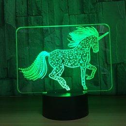 $enCountryForm.capitalKeyWord NZ - 2018 Unicorn Star 3D Optical Illusion Lamp Night Light DC 5V USB Charging Battery Wholesale Dropshipping Free Shipping