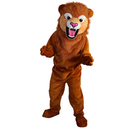 22e0518db 2018 New high quality Lion Mascot costumes for adults circus christmas  Halloween Outfit Fancy Dress Suit Free Shipping