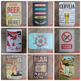 Clock Signs NZ - Fashion Metal Tin Signs For Wall Decor Santa Claus Beer Popular Iron Paintings 20*30cm The Toilets Tin Posters Many Styles 3 99ljt ZZ
