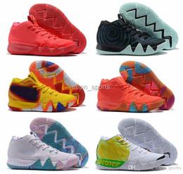 115f78a663c7 2018 new kyrie homens tênis de basquete irving 4 preto branco ouro tênis  esportivos tênis kyries designer mens off marca chaussures com caixa