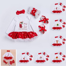 $enCountryForm.capitalKeyWord NZ - My 1st First Christmas Outfits Clothes Toddler Suits Baby Girl Christmas Clothing Sets For Bebes Kids Christmas Romper Dress sets