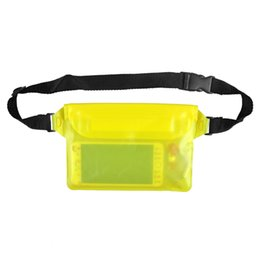 Diving Pouch UK - New Beach Diving Drifting Swimming Fishing Camping Waterproof Pouch Waist Strap for iPhone Camera Cash MP3 Passport Documents
