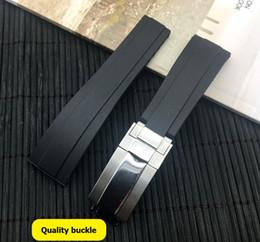 Banda de correa de reloj de caucho de silicona de naturaleza negra de 20 mm Banda para papel GMT OYSTERFLEX Pulsera en venta