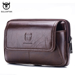 060db29f8443 Bullcaptain Brand Men Waist Bag For Phone Genuine Leather Casual Small Men   S Bag Purse Fanny Pack Belt Motorcyclist Bags Pouch