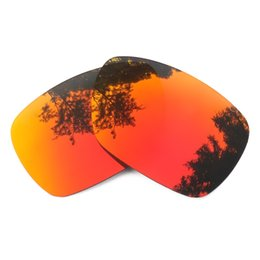 daea59729694 Orange Red Mirrored Polarized Replacement Lenses for Inmate Sunglasses Anti  Saltwater Anti dust