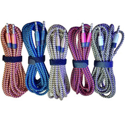 Wholesale Braided Weave AUX Audio Cable FT M mm Male Stereo Audio Extendtion Cables For Cell phones MP3 Speaker Tablet