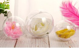 $enCountryForm.capitalKeyWord Australia - 150pcs 5cm Christmas Decorations Clear Plastic Ball Transparent Can Open Plastic Christmas Clear Bauble Ornament Gift
