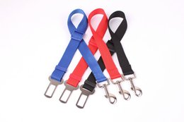 Bicycle Safety Led NZ - Dog Seat Belt Adjustable Pet Cat Dog Safety Leads Car Seat Belt Free Shipping (100pcs pack) By DHL UPS FEDEX