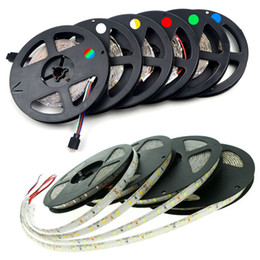 flexible car led lighting bars 2018 - 16.4ft RGB LED Flexible Strip Lights SMD 5050 LEDs 12V DC Waterproof Light Strips DIY Christmas Home Car Bar Party Light