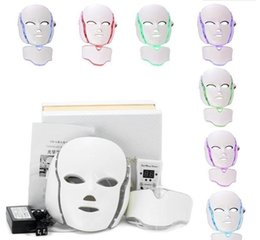 $enCountryForm.capitalKeyWord NZ - great Facial Beauty Mask 2018 PTD Photon LED Face Neck Mask LED Treatment Skin Whitening Firming Electric Anti-Aging Mask A575