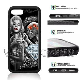 sexy super star 2019 - Marilyn Monroe Statue USA Flag Beautiful woman Super star sexy Gorgeous Floral Flower Skull SkeletoN Phone Case For iPho