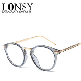 1a5721614 LONSY Fashion Round Myopia Optical Glasses Frame Women Brand Design Plain Clear  Eyeglasses frame oculos De Grau LS-CJG008