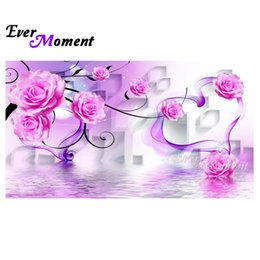 $enCountryForm.capitalKeyWord NZ - wholesale diamond painting flower pink water diy diamond embroidery 5d floral series full square large size painting ASF747