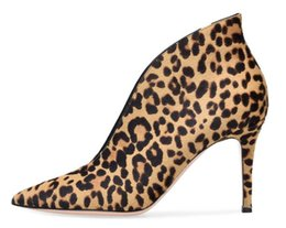 $enCountryForm.capitalKeyWord Canada - Autumn New Women Leopard Black Burgundy White Brown Pointed Toe Slip On V-shape Sexy Party High Heel Thin Heels Pumps Lady