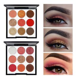 Glitter Pigment Eyeshadow Palette Canada - NOVO Makeup Long Lasting Waterproof Shimmer Matte 9 Colors Eyeshadow Palette Make Up Earth Color Pigments Glitter Eye Shadow Cosmetics