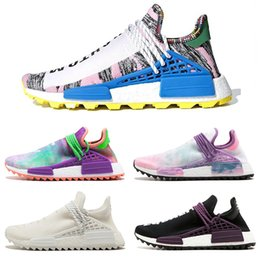 Human Race Pharrell NZ - New designer Human Race Creme x NERD Solar PacK Running Shoes Pharrell Williams X Afro Hu Trail Equality Women Mens Trainers Sneakers scarpe