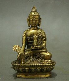 $enCountryForm.capitalKeyWord Australia - Folk Tibet Tibetan Brass Shakyamuni Medicine Buddha Statue Figurine