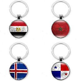 Egyptian Figures Australia - Silvery alloy round men boy Panama Flag KeyChain Egyptian Egypt flag KeyChain Panama Egyptian Egypt flag Key Chain Ring Pendant y136