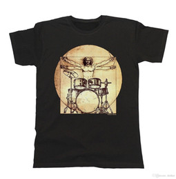 Modo T-shirt Da Vinci Baterista T-Shirt Fit Bateria Muziek Mens Casual T Zwart O Hals Camisa Plus Size T Camisa venda por atacado