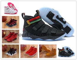 2539a79fb68a Lebron 11 Court General Basketball Shoes Soldiers 11 Magic Buckle James 11  897644-101 size 7-12 +box