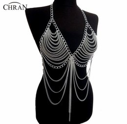 $enCountryForm.capitalKeyWord UK - wholesale New Fashion Beach Chain Necklaces Alloy Chain Bra Long Necklaces & Pendants For Women Sexy Statement Body Jewelry BC0395