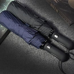 581cac986 JESSE KAMM 2017 New Big Strong Fashion Windproof Men Gentle Folding Compact  Fully Automatic Rain High Quality Pongee Umbrellas